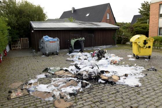 Müllcontainerbrand Westerland