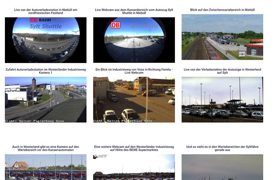 Aktuelle Webcams informieren Sie Live von der Anreise nach Sylt