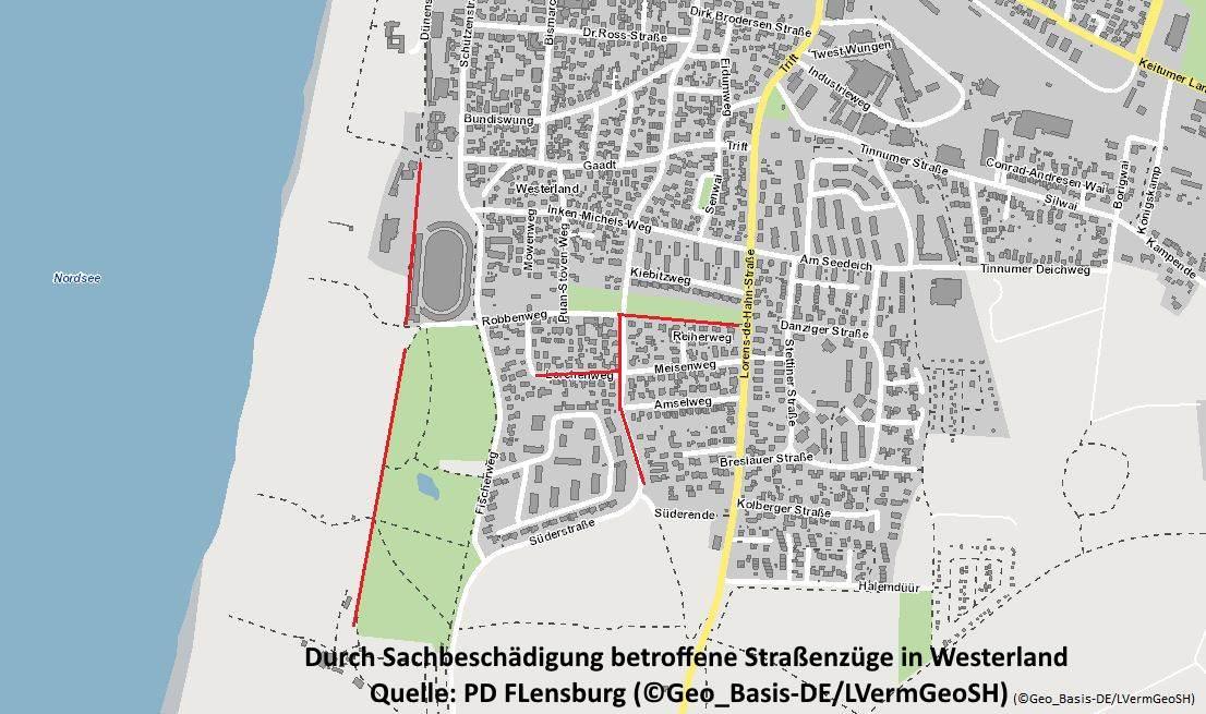 Die Tatorte in Westerland auf Sylt
