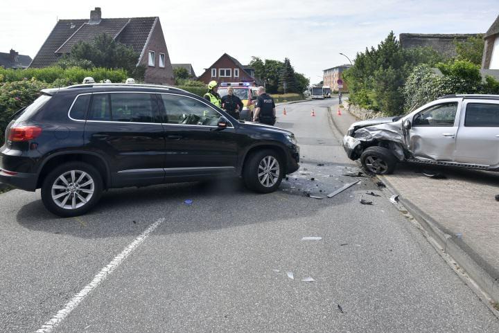Unfall in der Westerländer Süderstraße