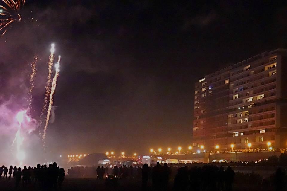 Auch in diesem Jahr gab es Feuerwerk am Strand von Westerland