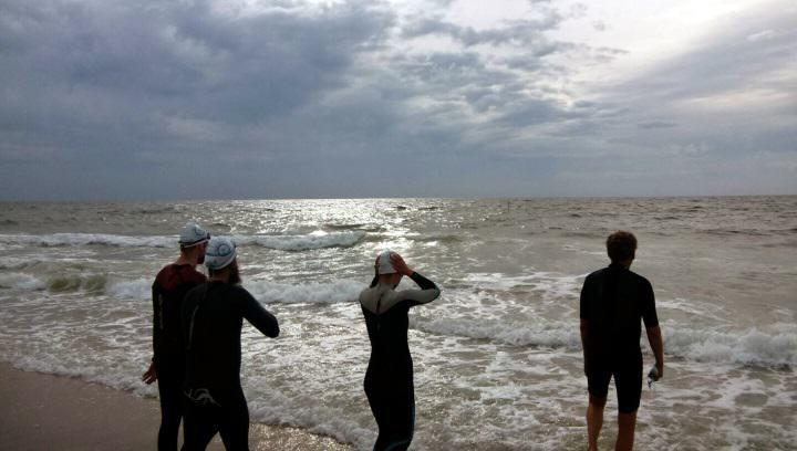 Freiwasserschwimmes der DLRG Sylt in der Nordsee