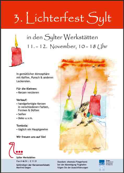 3. Lichterfest auf Sylt am 11. + 12. November 2010