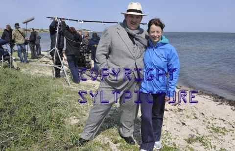 Dietmar Bär und Inka Friedrich bei Dreharbeiten auf Sylt