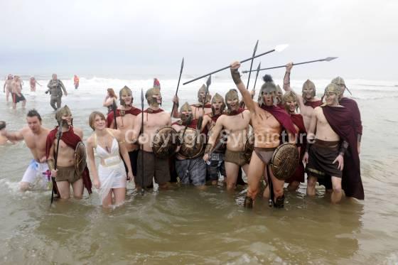 Römer beim Sylter Weihnachtsbaden 2009