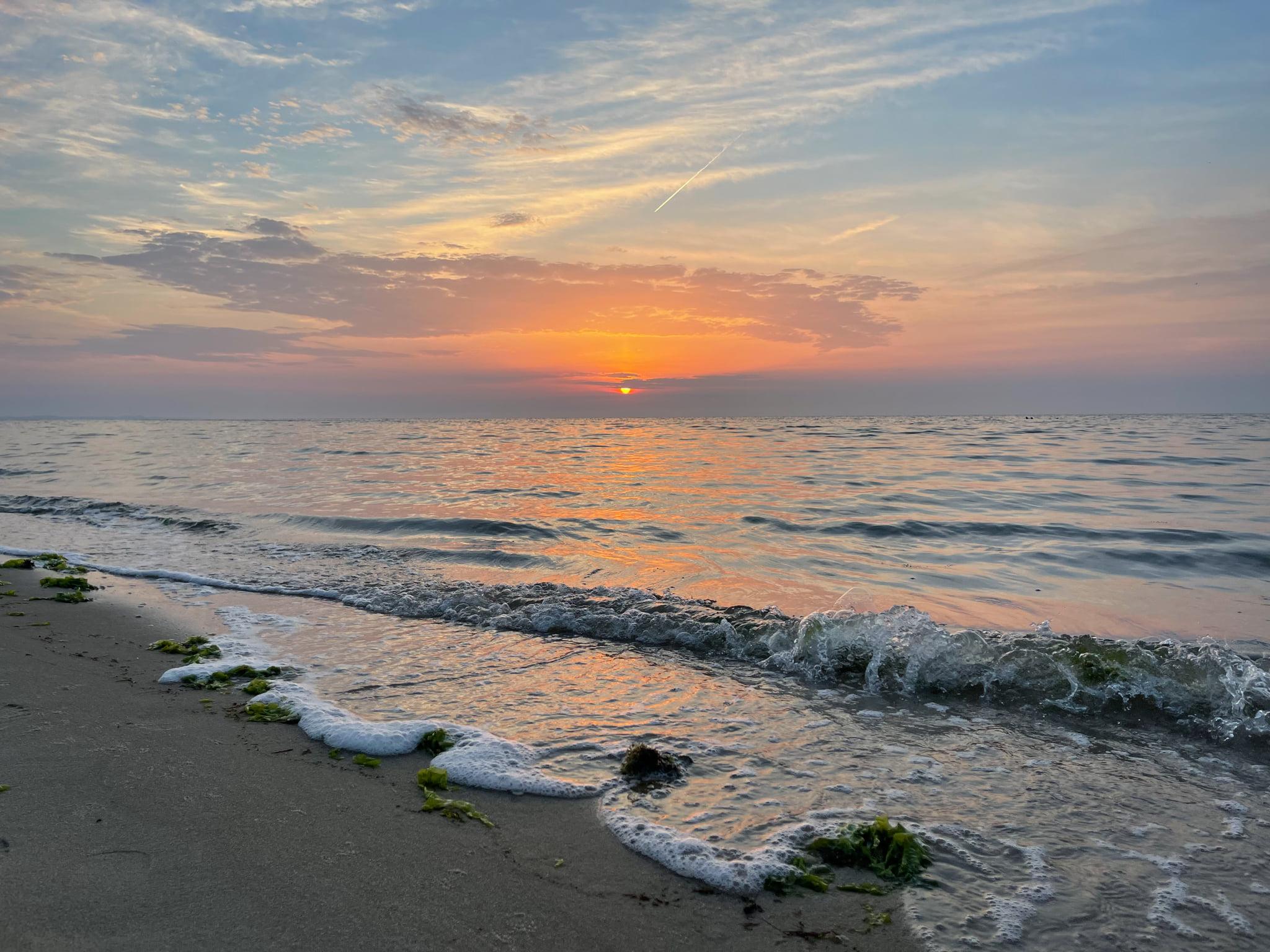 Morgens um 5 Uhr im Juli 2021 am Wattenmeer in der Braderuper Heide
