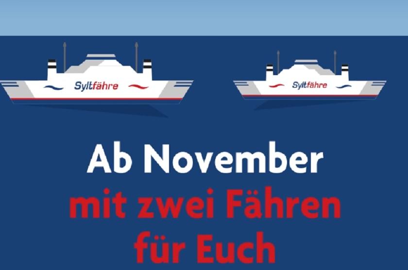 Ab November gibt es zwei Syltfähren zwischen List und Havneby