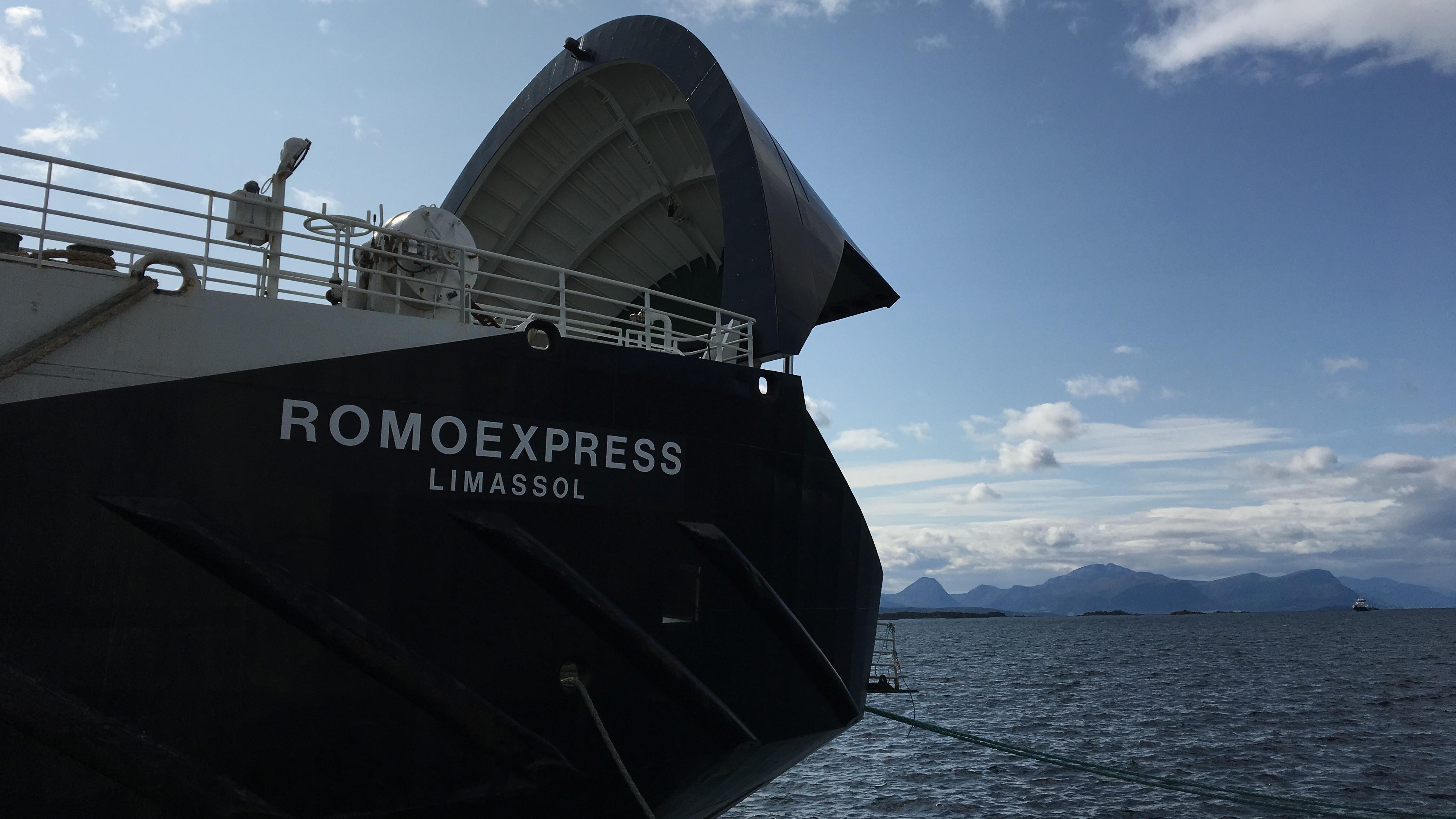 Konsequenter Weise heißt die zweite Fähre RÖMÖExpress nachdem die erste SyltExpress heißt