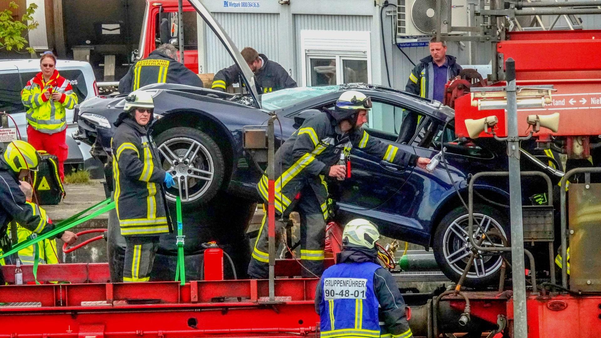 Die Sylter Feuerwehr musste schweres Gerät einsetzen