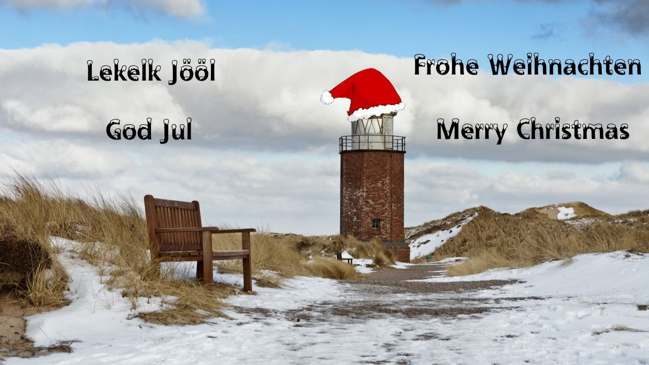 Frohe Weihnachten, Lekelk Jööl, God Jul + Merry Christmas