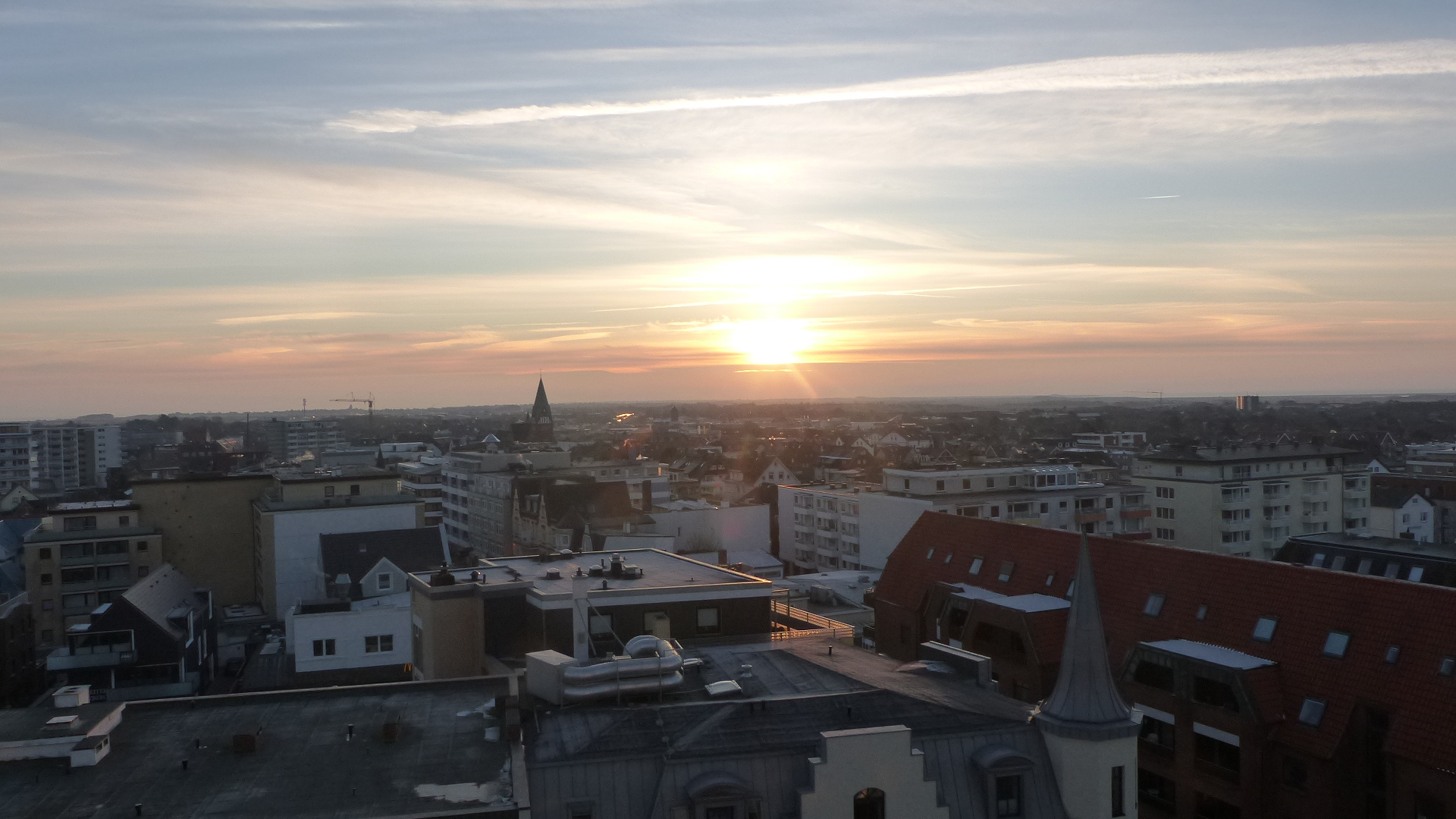 Immer wieder schön, die Sonnenuntergänge vor Sylt