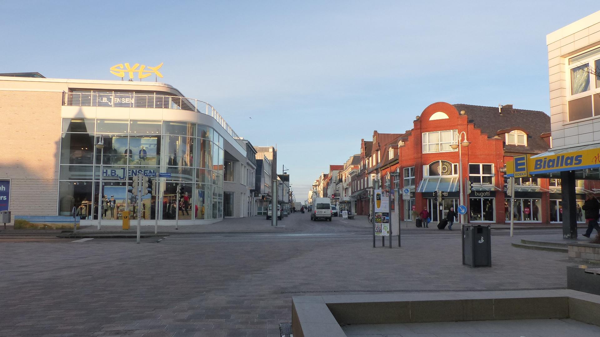 Westerländer Fußgängerzone voraus